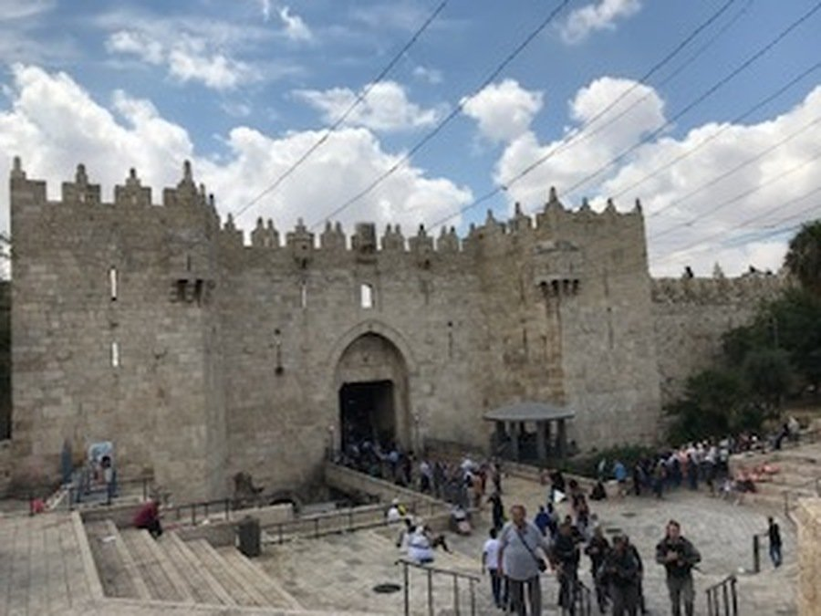 The Damascus Gate - it has a sharp turn as a defensive measure