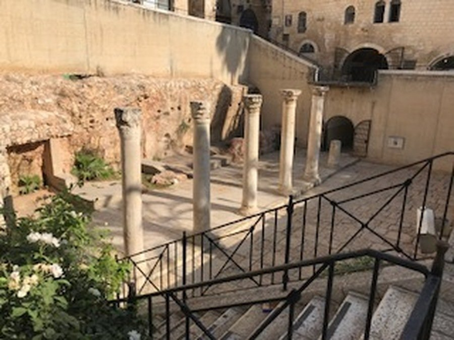 The Cardo - the main street in the Roman City built by Hadrian over the ruins of Jerusalem.