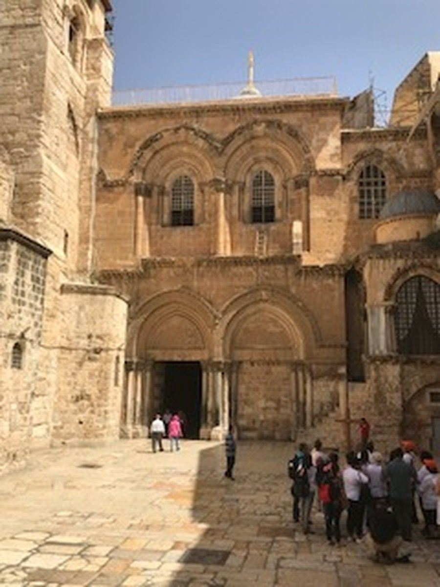 Outside the Church of the Holy Sepulchre - always a disappointment?