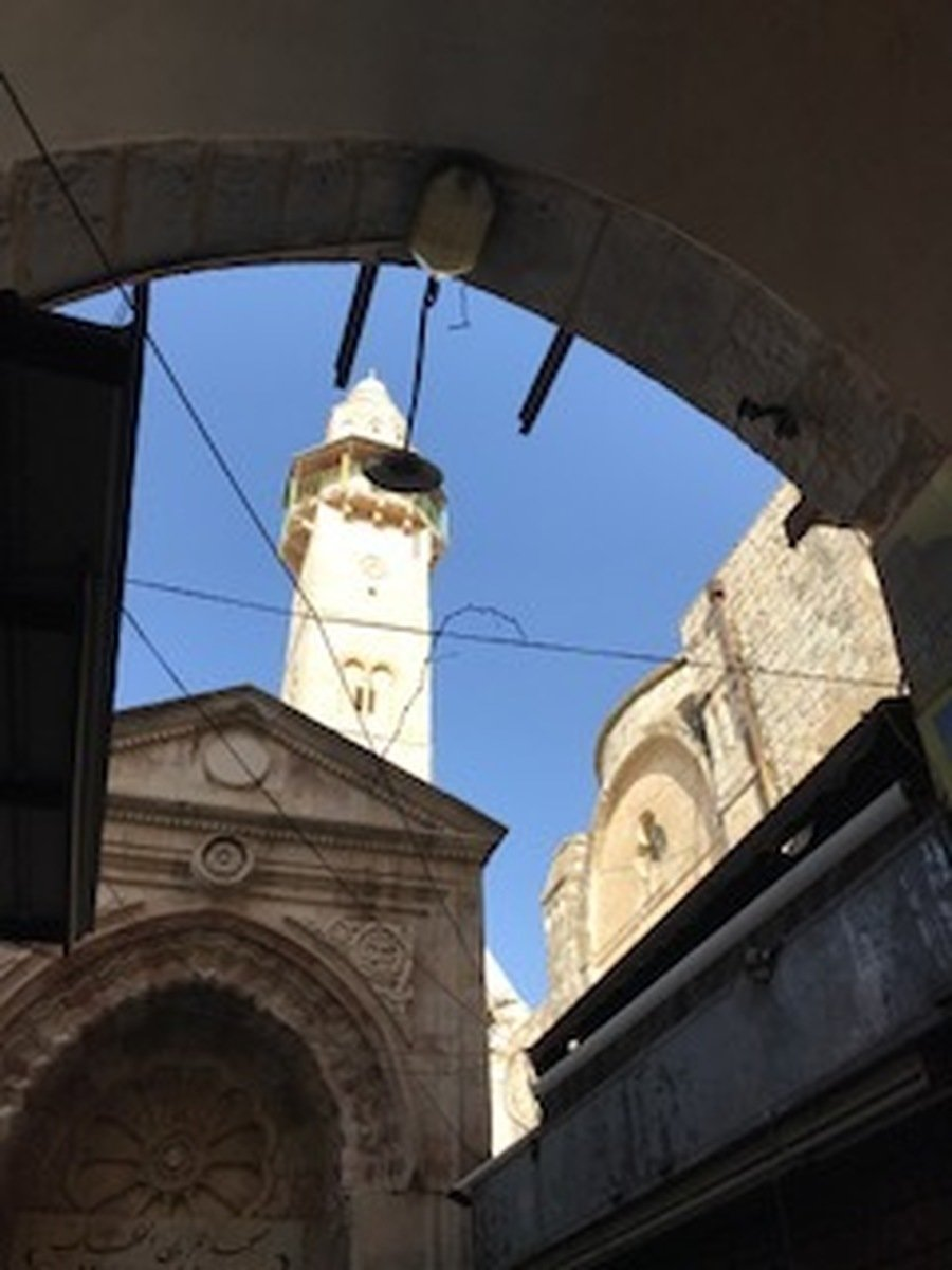 The minaret of the Mosque of Omar