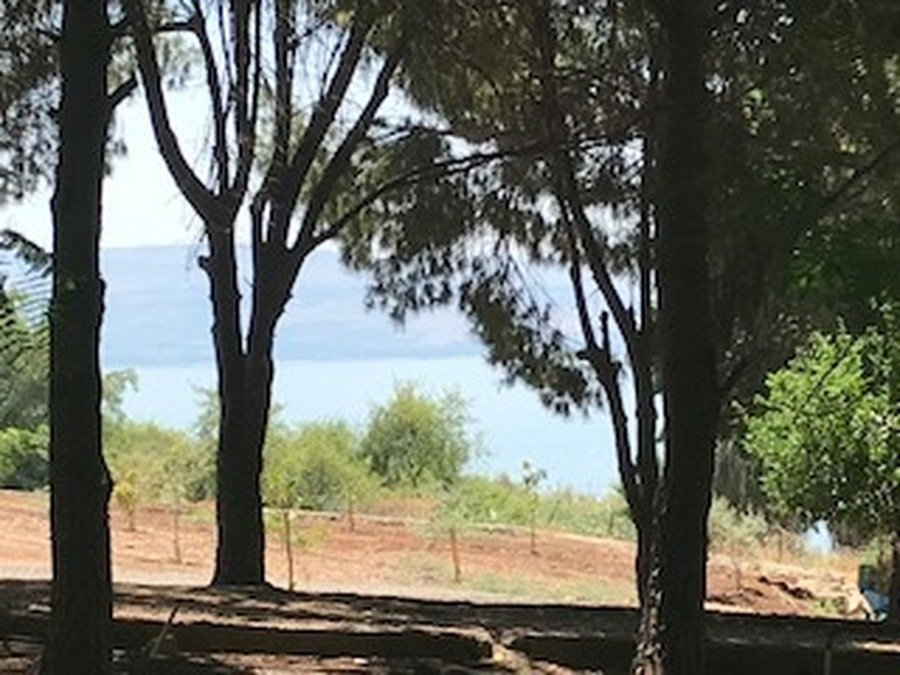A last sight of The Sea of Galilee
