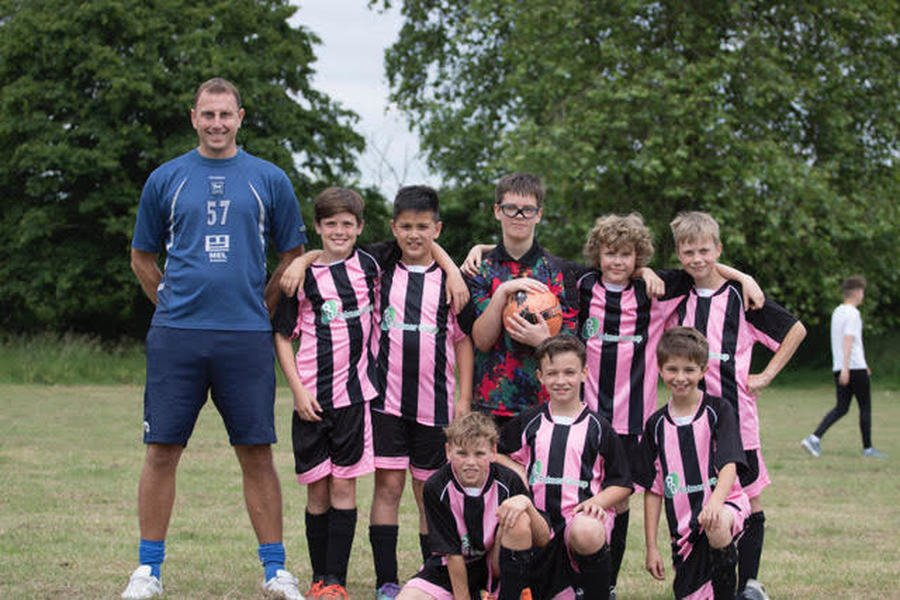 The Owls Football Team with their manager Mr Hyde at the Small Schools Football Tournament - June 2018