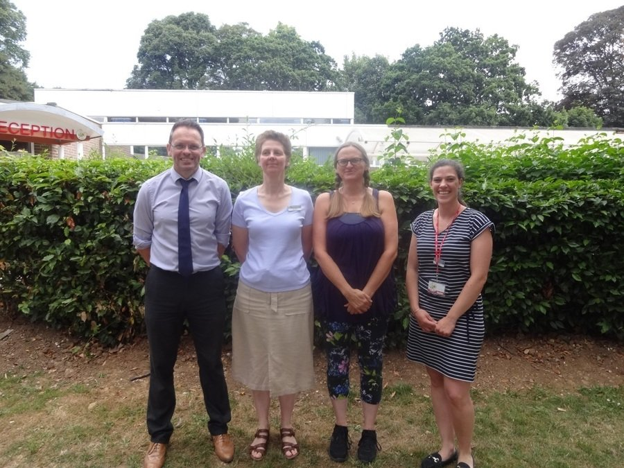 From left to right:  Mr McKenna, Mrs Barclay, Mrs Harris, Miss Elwes