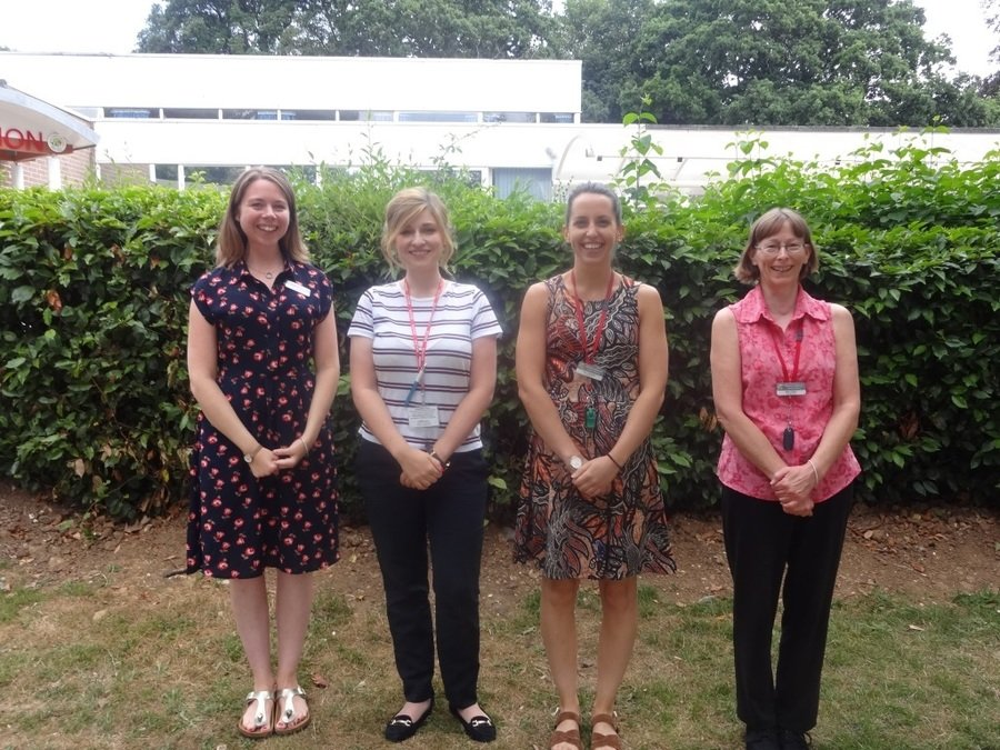 From left to right:  Miss Pearmain, Mrs Simons, Miss Mrozinski & Miss Ekkless