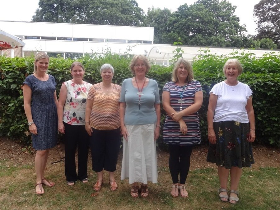 From left to right: Mrs Milne, Mrs White, Mrs Amos, Mrs Peach, Mrs Glasspool, Mrs Mars