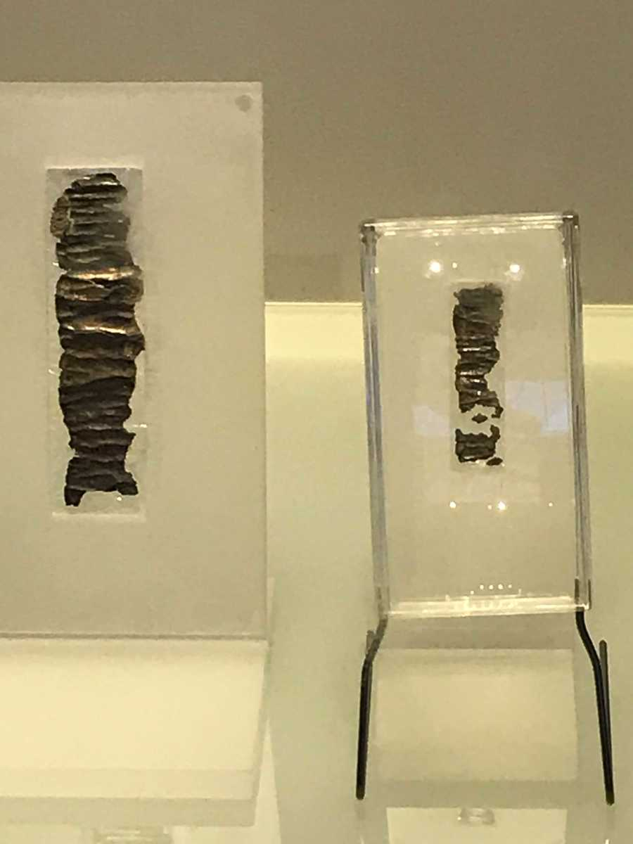 Two tiny silver bracelets dating from the 7th century BC. On them is inscribed the blessing from the Book of Numbers.