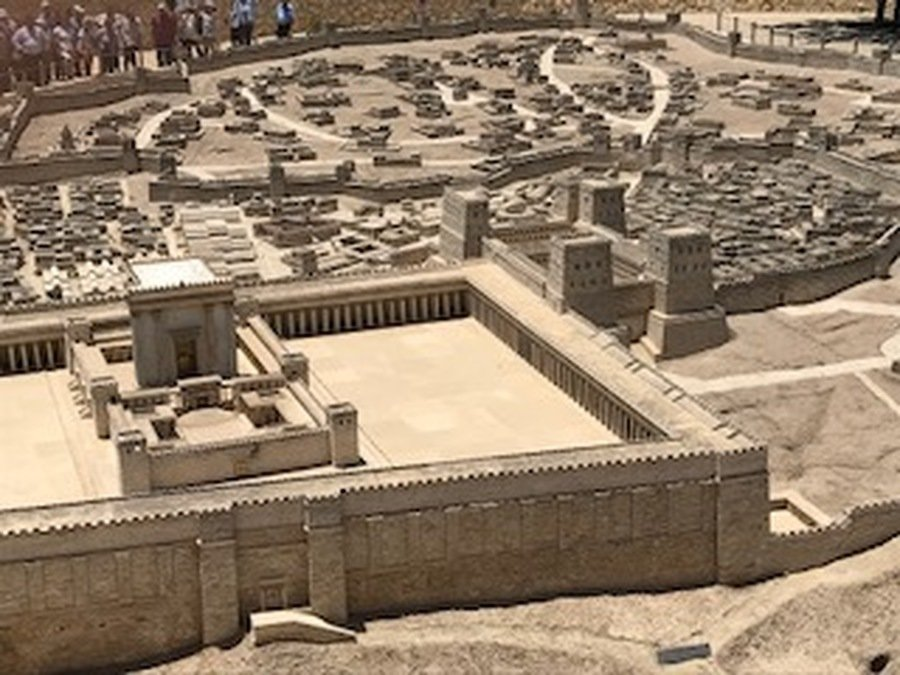 Part of the model of Ancient Jerusalem at the Museum of Israel.
