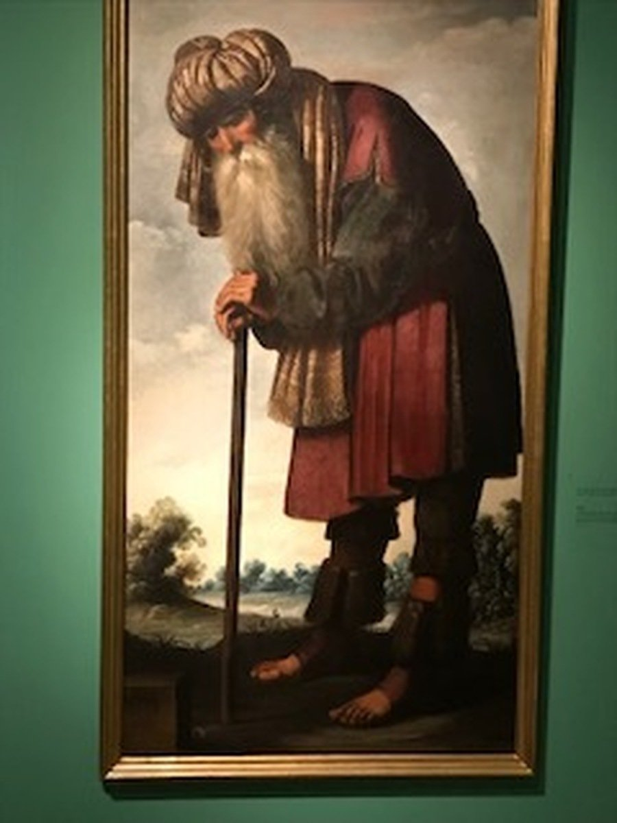 Father Jacob from an exhibition of paintings by Zuberan of Jacob and his twelve sons. The pictures usual home is Auckland Castle.