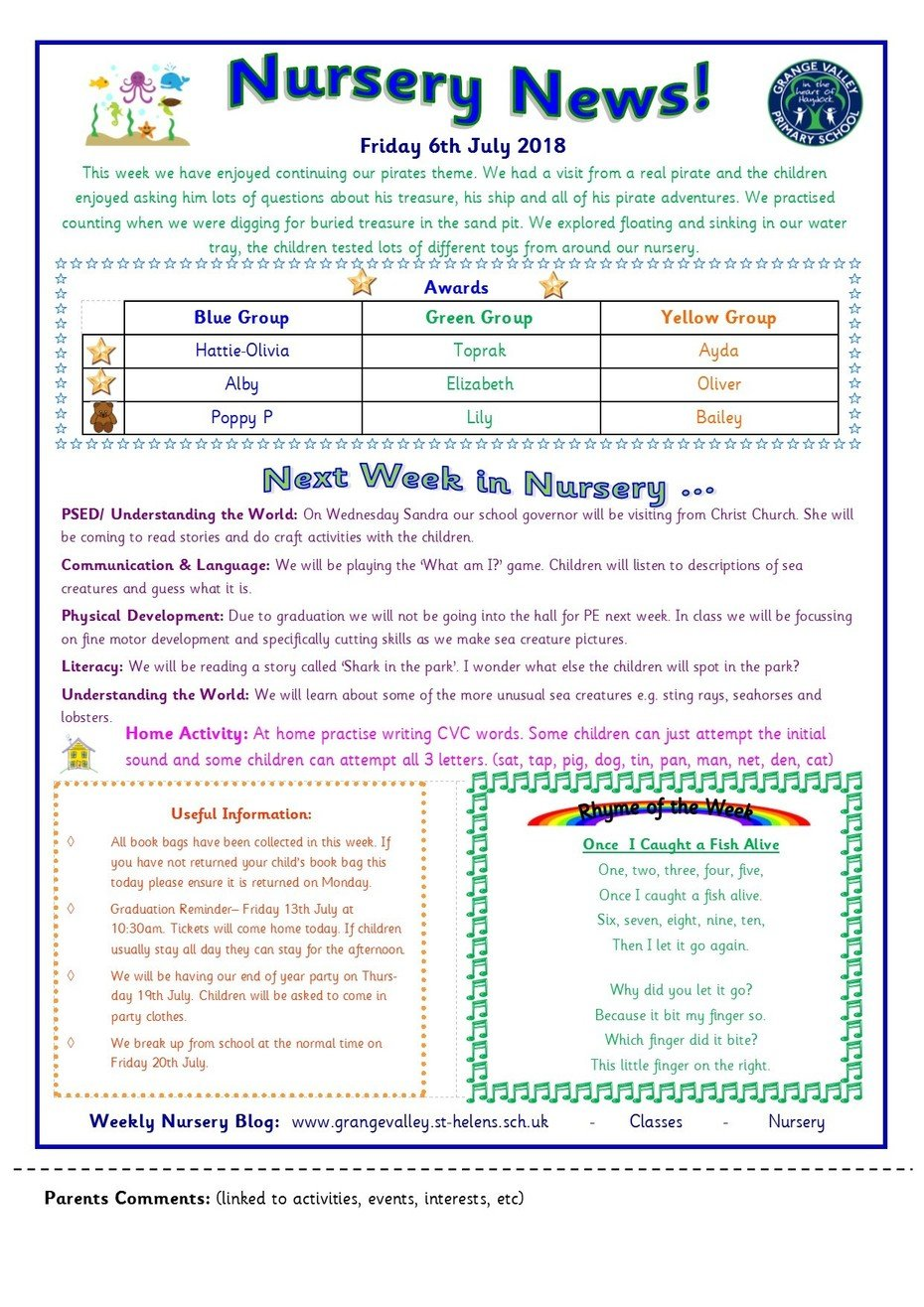 Grange Valley Primary School and Nursery - Nursery Blog