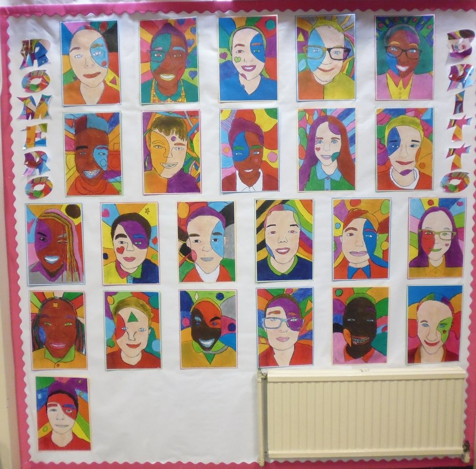 Year Six Artwork Romero Britto