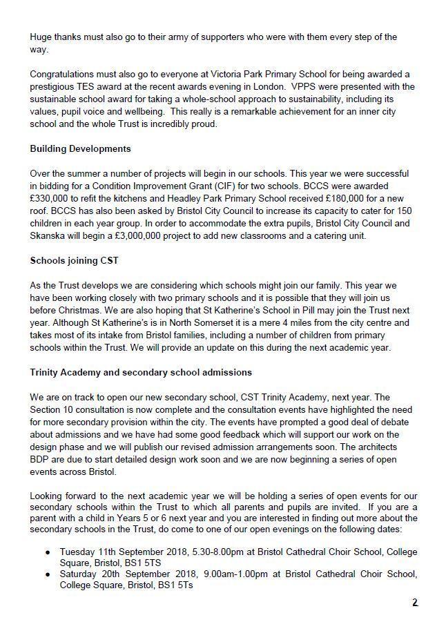 CST Newsletter