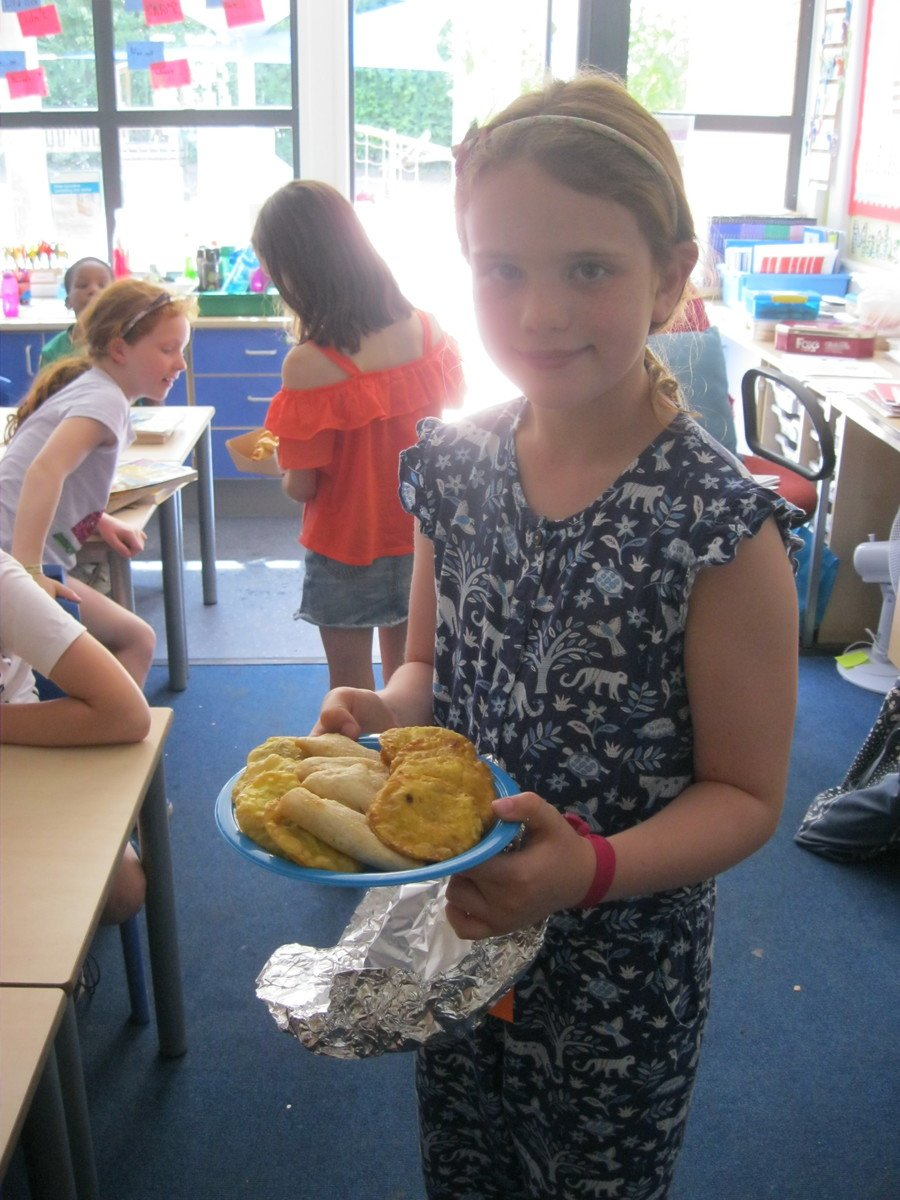 We made and tasted yummy food from Argentina!