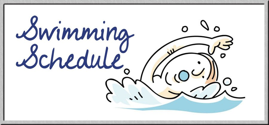 Class swimming dates.