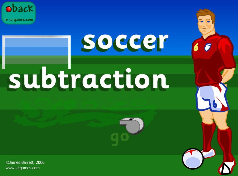 Soccer Subtraction website
