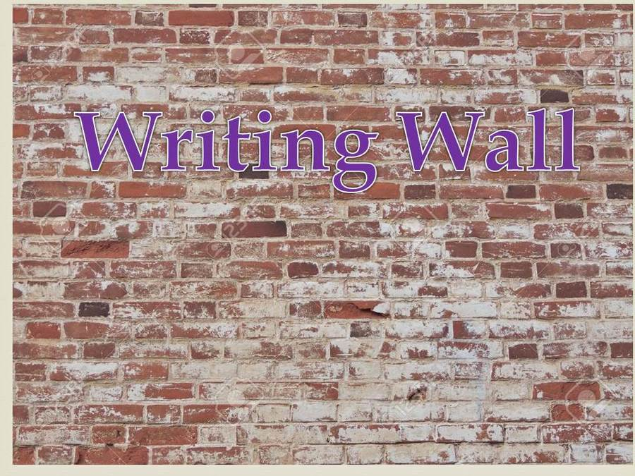 To see selected children's writing click on the wall