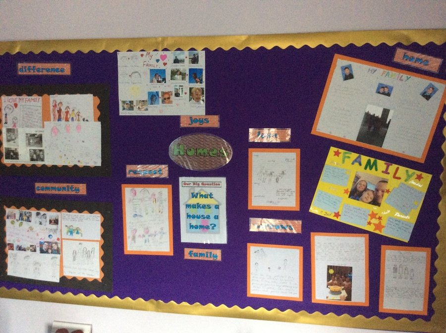 "4.9.18 Fantastic homework celebrating our families for our new RE ""Homes"" display."