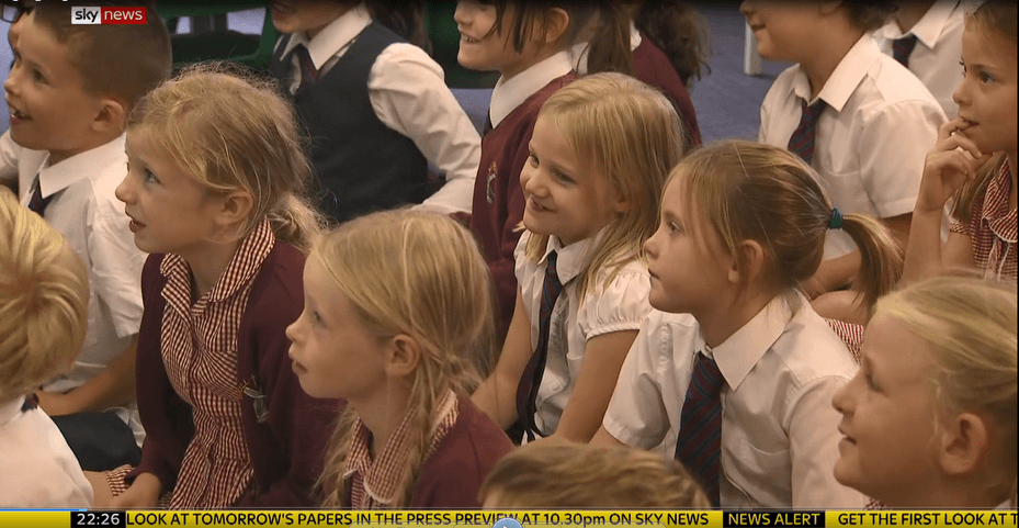 Screenshot from Sky News report featuring Brill School