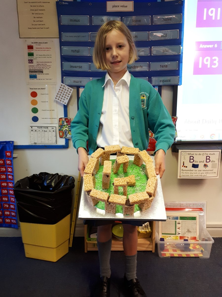 We enjoyed eating Beatrice's Stone Henge!