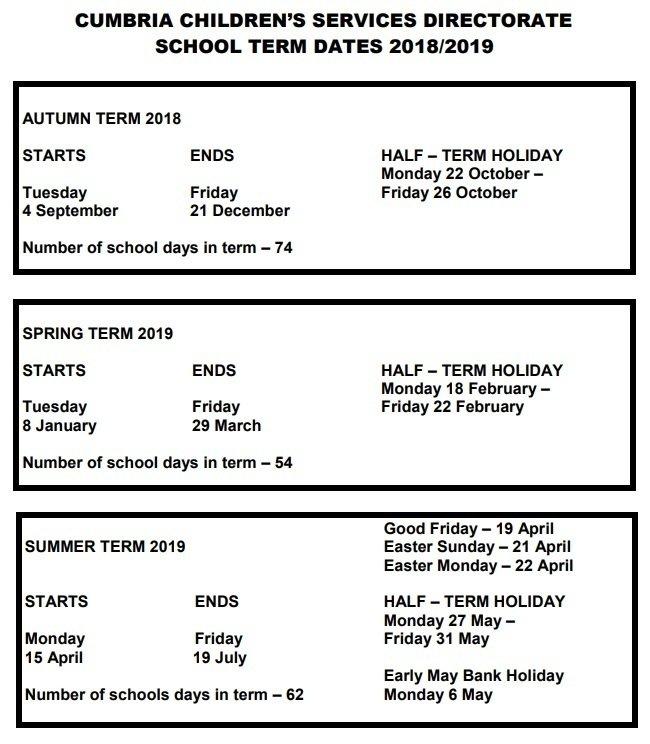 St  Patrick's Catholic Primary School - Term Dates