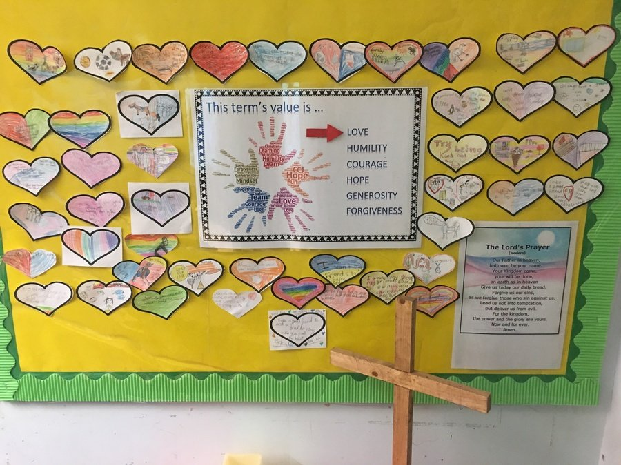 In class assembly Wagtail Class considered how they would show love through friendship. Our worship monitors displayed our top tips on how to be a great friend.