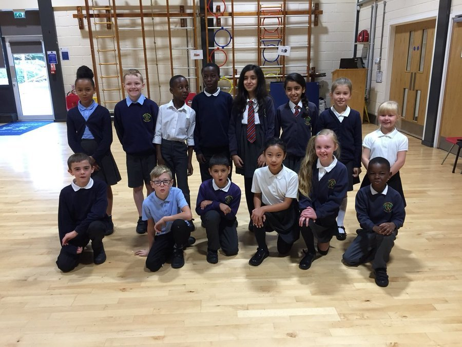Our new team of school council members