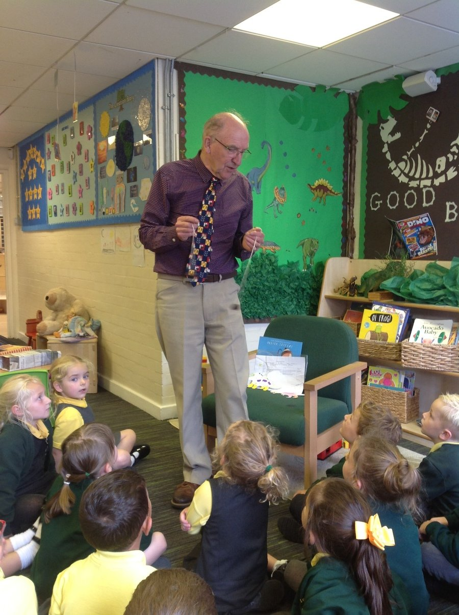 A visit from Mr Hurst showing us all of then toys/games that he used to play as a little boy!