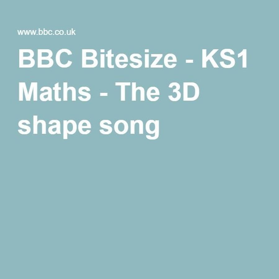 BBC 3D Shape Song