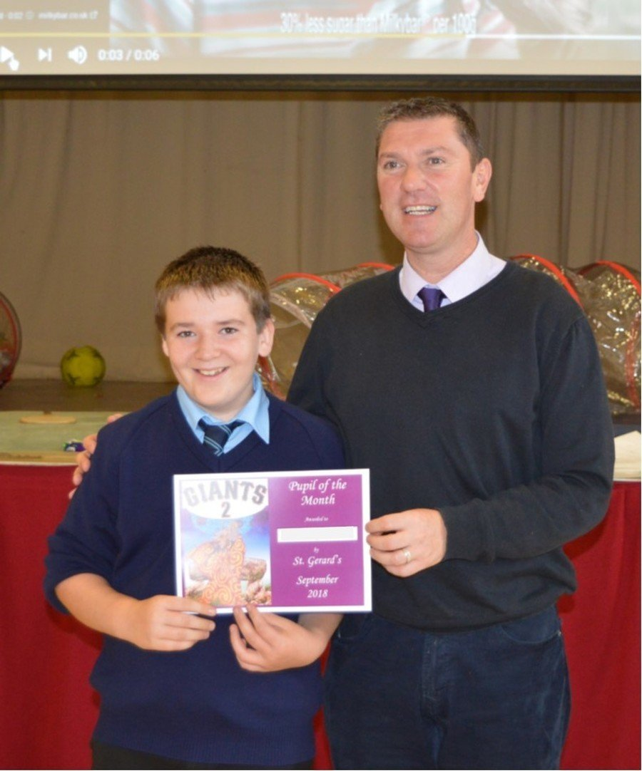 Middle School Pupil of the Month-September