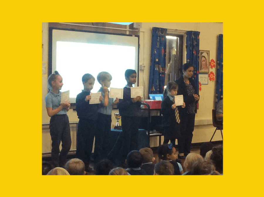 28.9.18 Well done to Year 3 merit certificate winners!