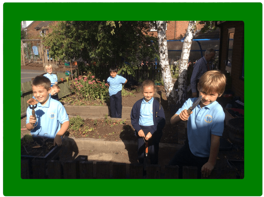 Thank you for helping tidy up our school garden.