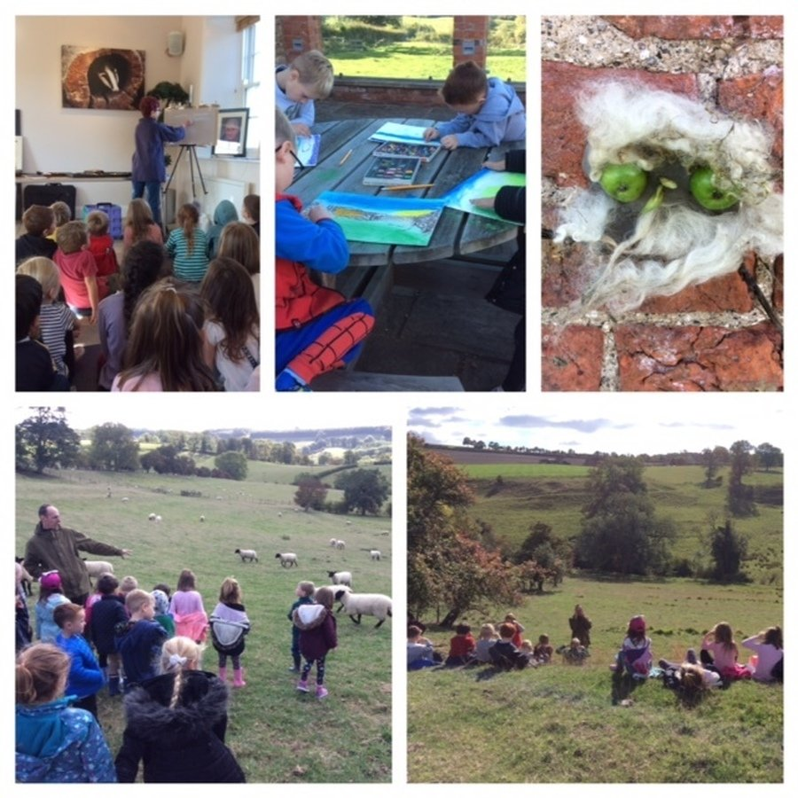 What a great time we had at Uncleby. We had a pastel landscape workshop from local artist Cath Inglis and a super farm walk with Farmer Mike.