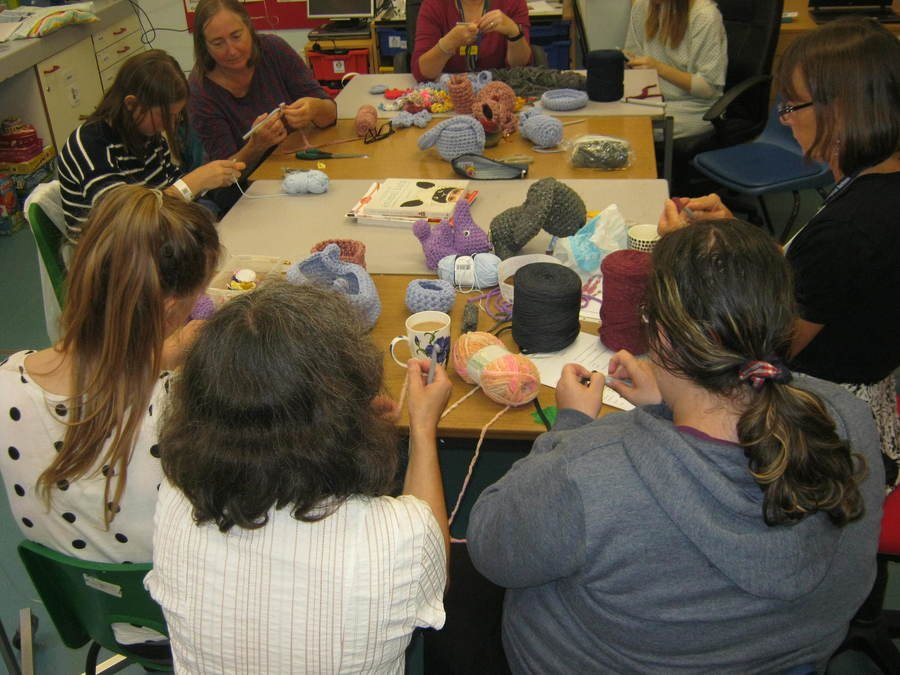 Thank you to one of our managers Sarah Creedy for spending the morning with us to deliver a crochet workshop.