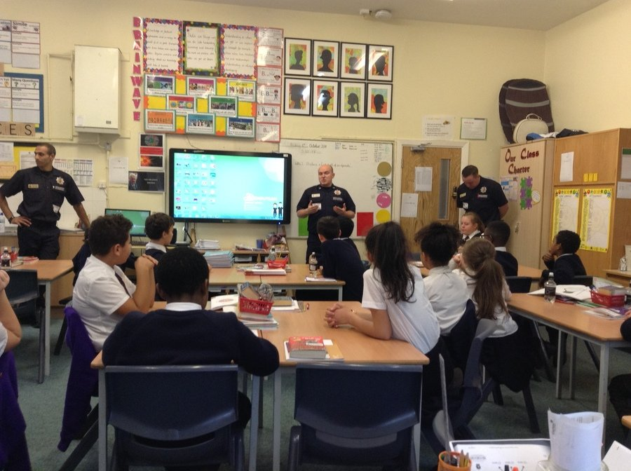 Year 6 had a visit from the Greater Manchester Fire service who gave a talk about their SAFE4Autumn campaign.