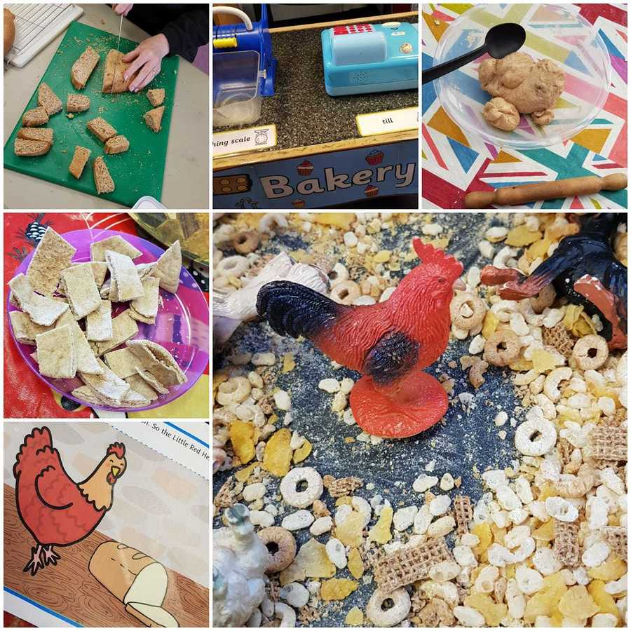 We read Little Red Hen and baked some bread of our own!