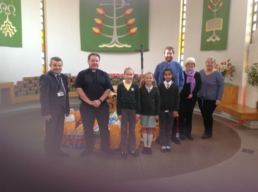 St Austin's delivery of Harvest food to the foodbank at St Catherine's Church ... Thankyou to everyone who contributed!