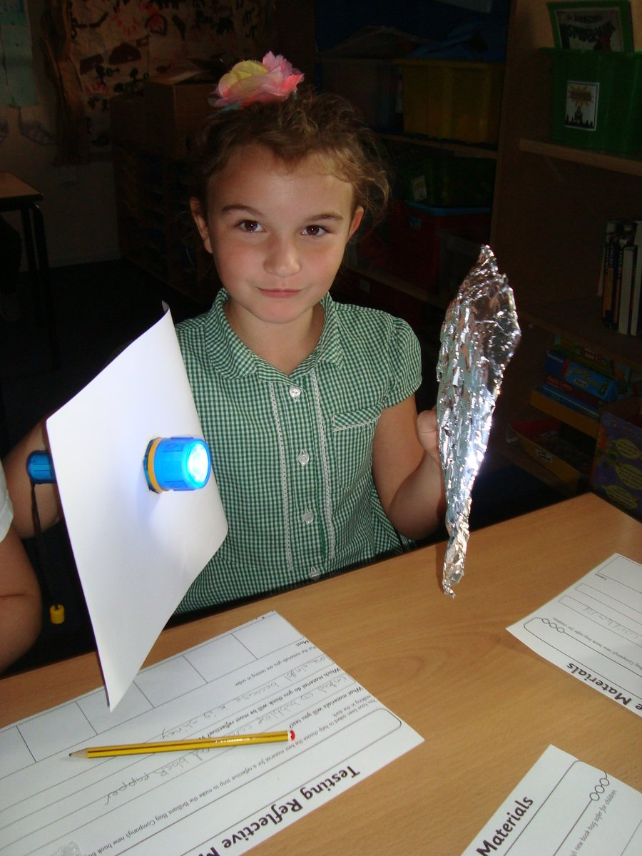 Investigating reflective materials!