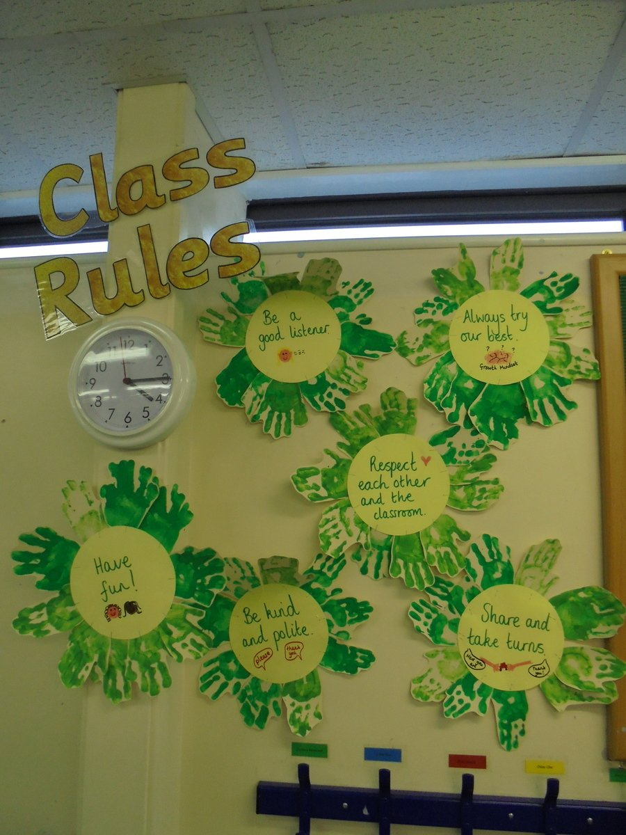 These are our class rules. We follow them to keep us happy and safe in Chestnut class.