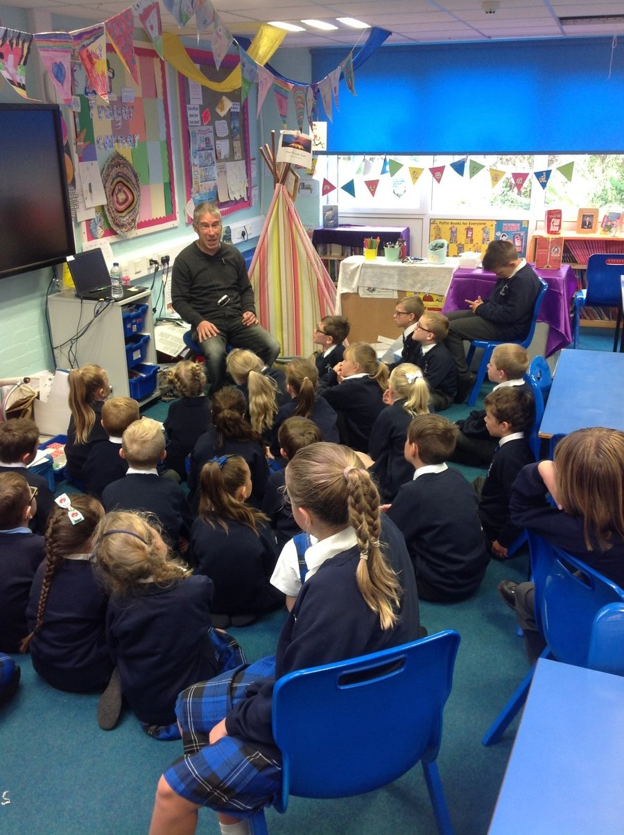 Poetry workshops with Mr Andy Tooze.