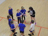 We walked to Ferndown Leisure centre to take part in a squash lesson. We all learnt some new skills and really enjoyed the morning..JPG