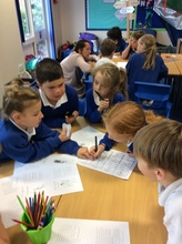 We worked as a team to make our owen top trumps game about Roman Gods. We had to work together to choose each score..JPG