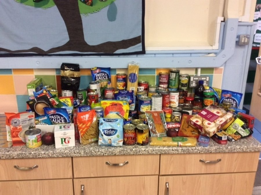 Harvest donations for FIND from our Harvet Service at st. Peter's Church.