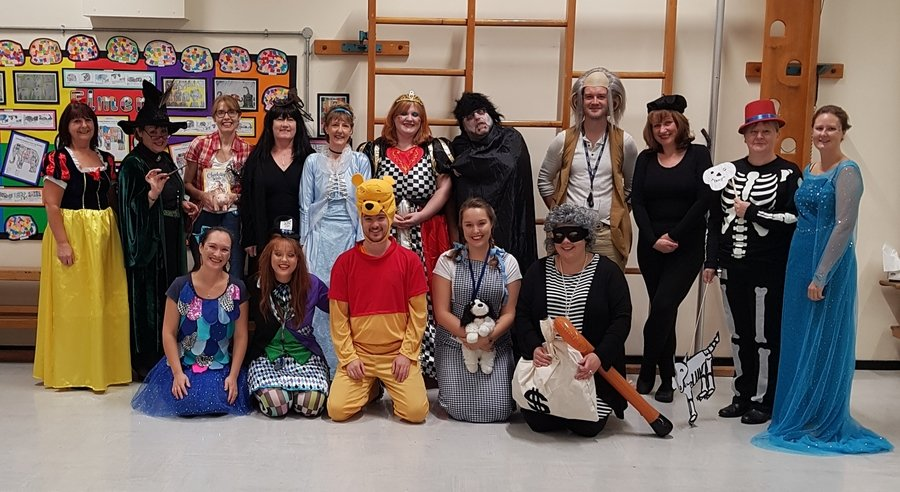The staff all ready for book day!