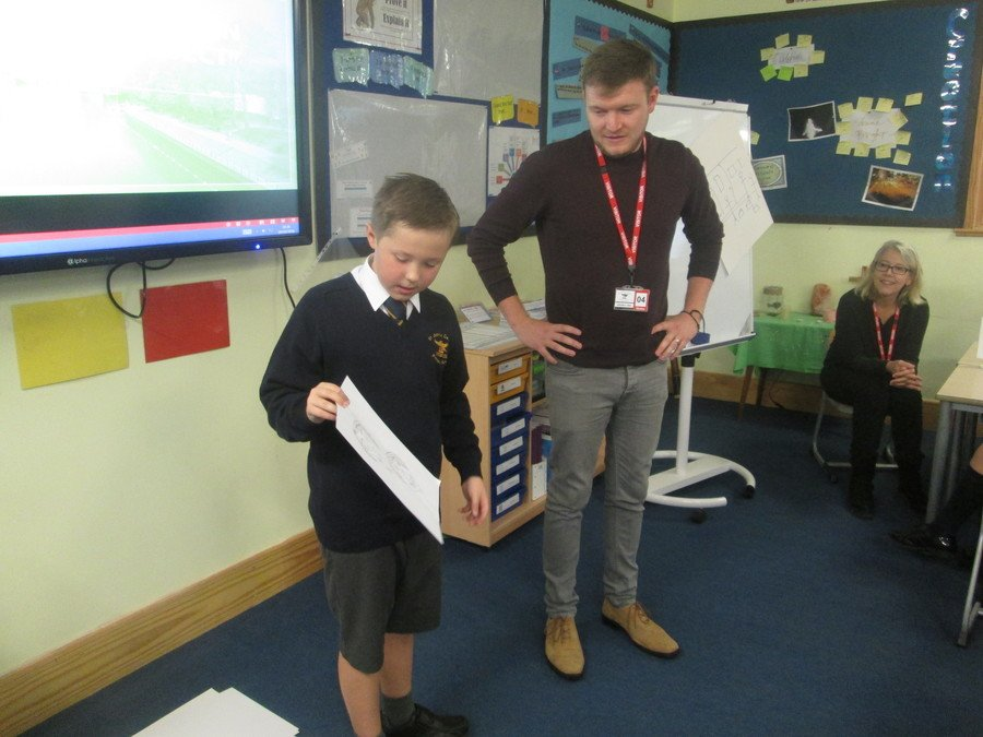 Working with our visiting artist Connor