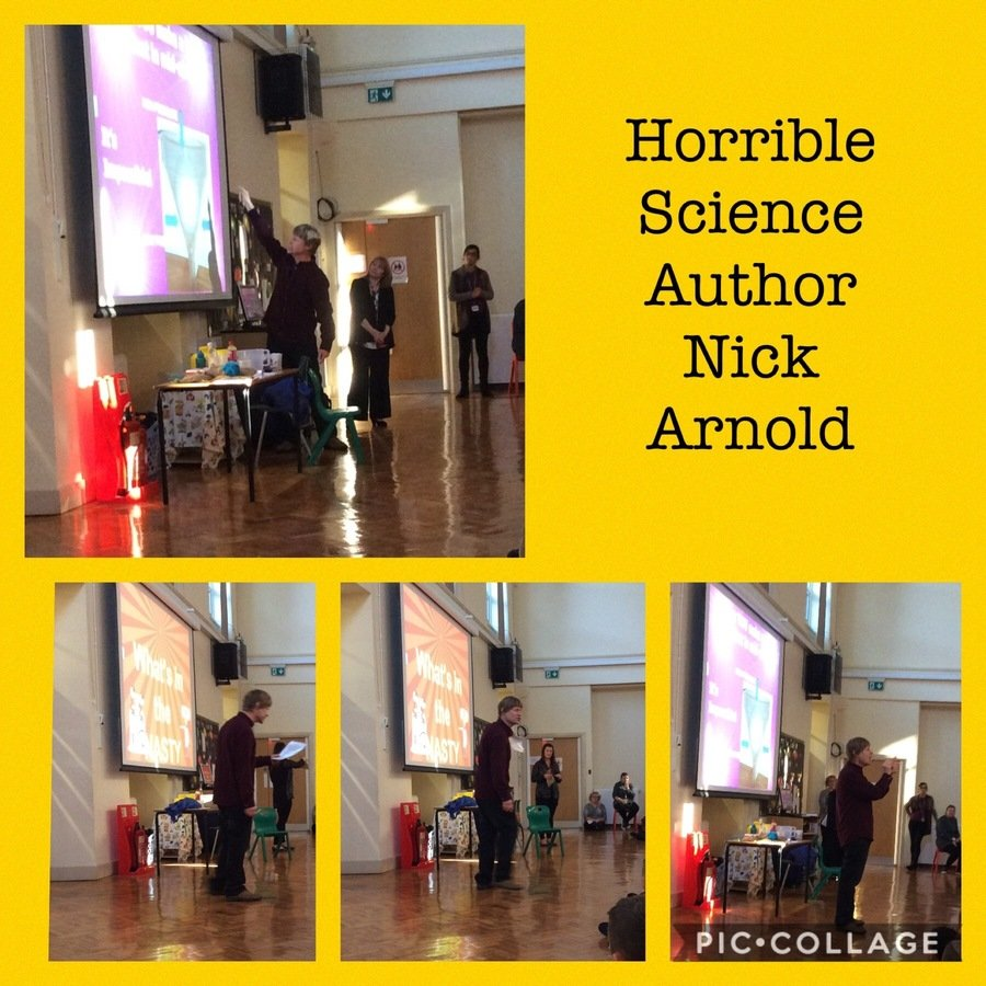The KS2 children at Ingrow had a very special visitor this October. Nick Arnold the author of the 'Horrible Science' series came to school to share a range of his experiments with the children and sign copies of his books. This provided a great link between science and English!