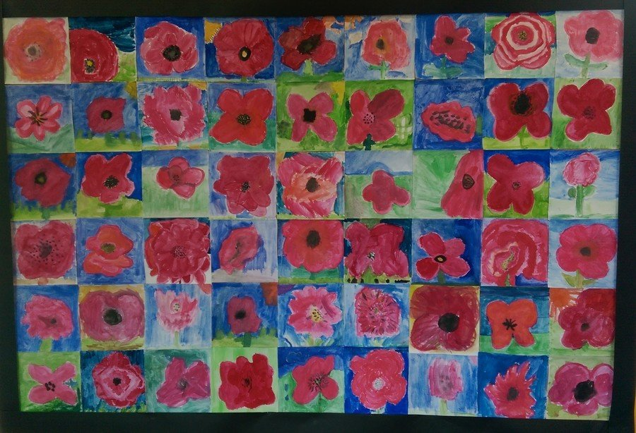 Our painted poppies tribute to all of those who gave their lives that we might be free.