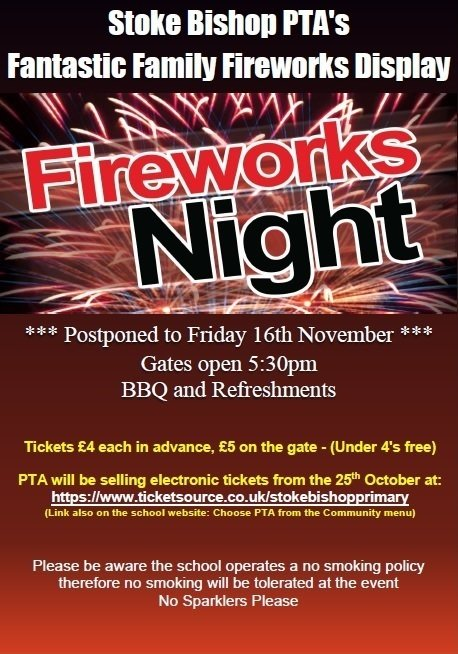 PTA Fireworks Night - Friday 16th Nov 2018