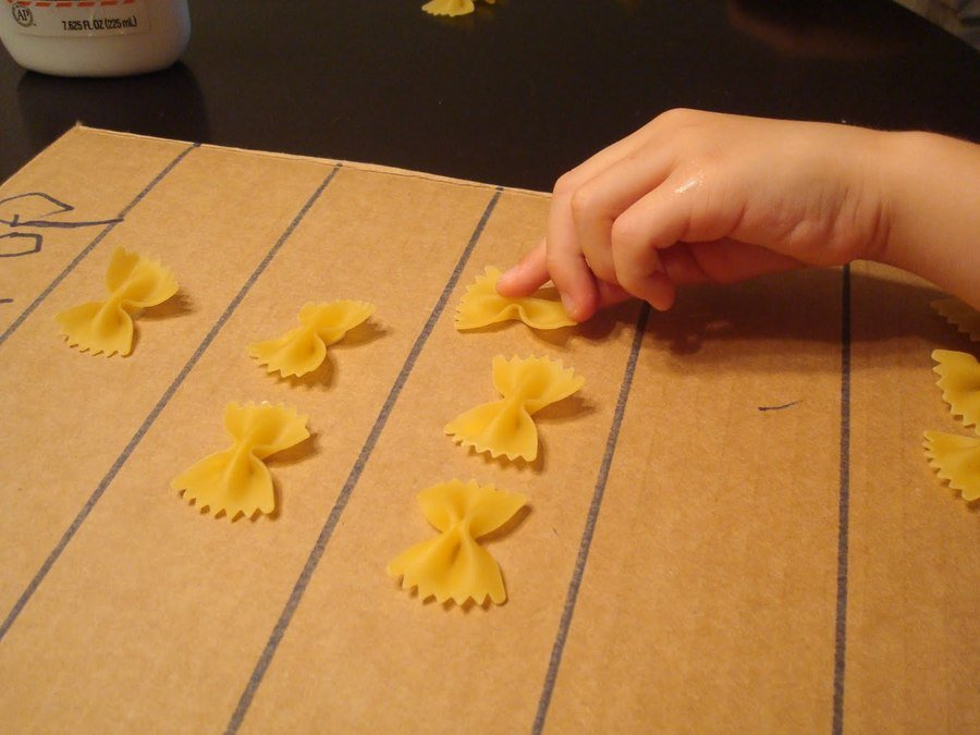 Counting using pasta