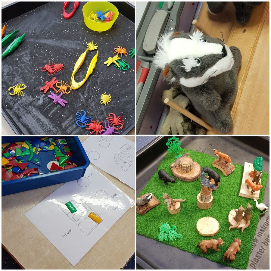 Another busy week at Nursery, learning about day and night with woodland animals!