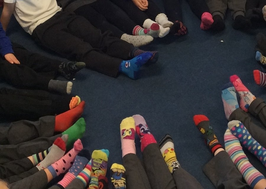 Odd socks because we are all unique!  Choose RESPECT!