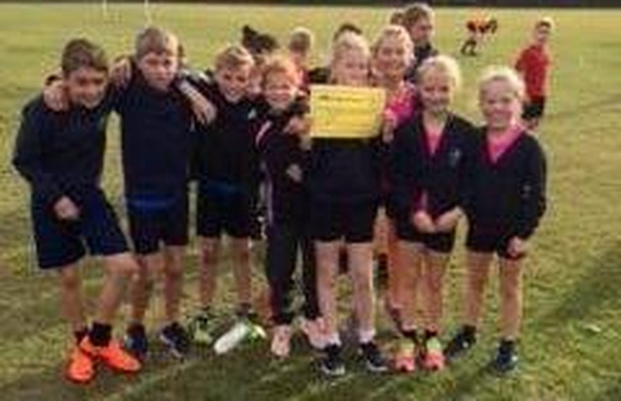 The winning team at the U11 XC Run at Hadleigh High in October 2018